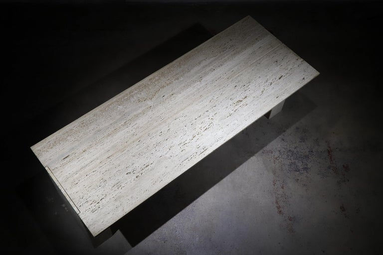 Travertine Desk or Dining Table For Sale 6