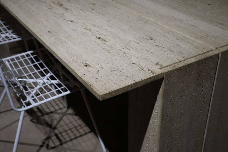 Travertine Desk or Dining Table For Sale 10