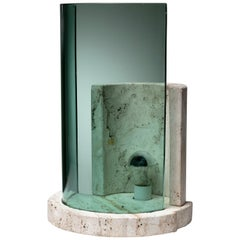 Travertine Table Lamp by Giuliano Cesari for Sormani