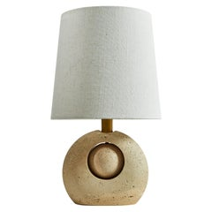 Travertine Table Lamp by Nucleo Sormani