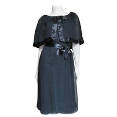 Travilla Dress with Capelet 1970s
