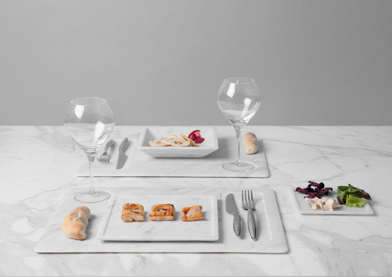 Tray in White Carrara Marble by Studioformart, Italy In New Condition For Sale In Milan, IT