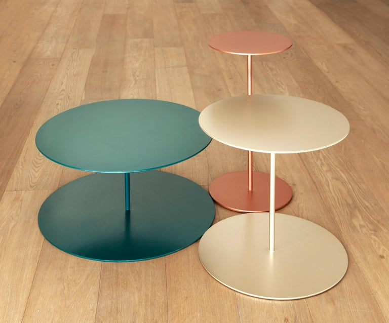 Italian Tray I Metal Structure Luxury Side Table, Made in Italy For Sale