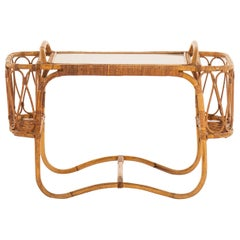 Tray Table in Rattan and Cane by E.V.A. Nissen & Co in Denmark