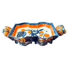"""Tray w/ Pig Head Handles,"" Remarkable Wiener Werkstätte Ceramic by Wieselthier"