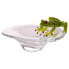 Tray with Frog, in Glass, Italy