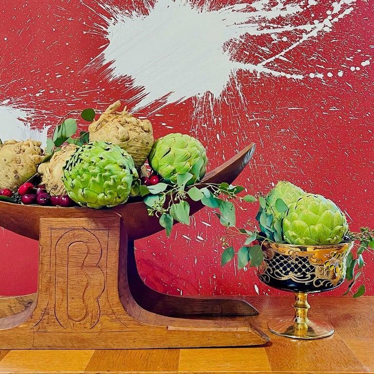 Gold Tre Fuochi Gilt Murano Dessert Set For Sale