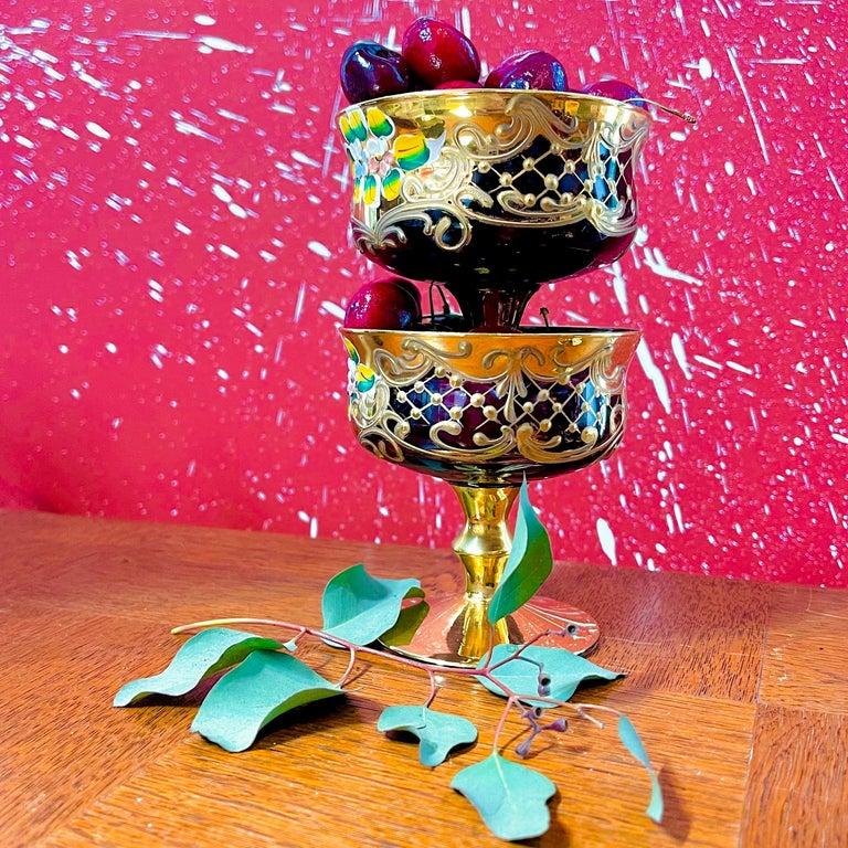 Tre Fuochi Gilt Murano Dessert Set For Sale 2