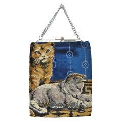Tre-mor Carpet Bag with Cats 1960s