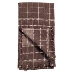 Treacle Brown Handloom Queen Size Bedspread / Coverlet in Organic Cotton