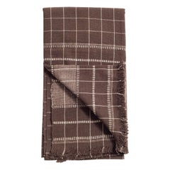 TREACLE  ( Brown ) Handloom Throw / Blanket In Organic Cotton