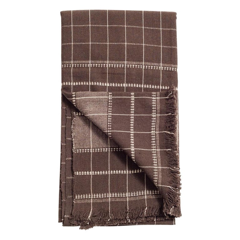 Treacle Handloom Throw / Blanket in Organic Cotton For Sale