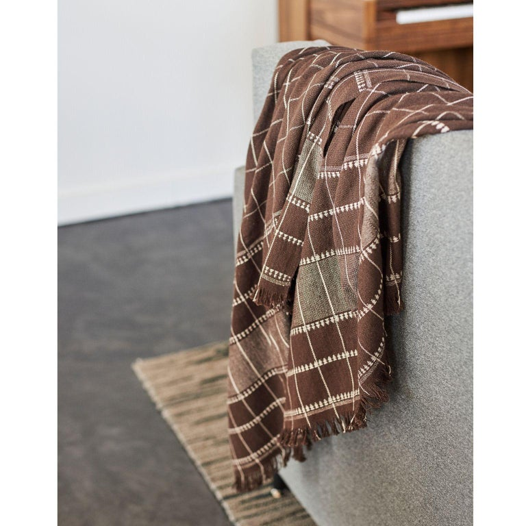 Contemporary TREACLE Handloom  Throw / Blanket  For Sale