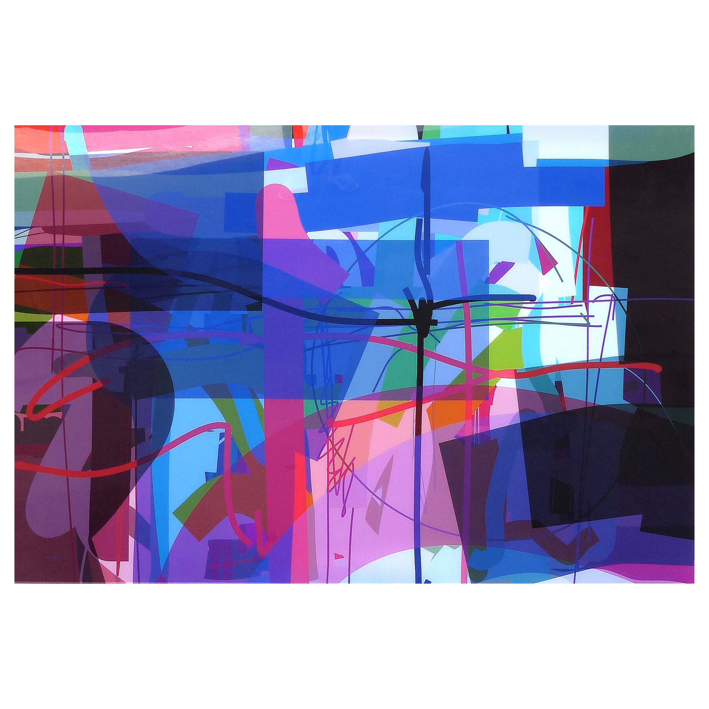 "Abstract Archival Digital Fine Art Print ""Treasure Island"" William P. Montgomery"