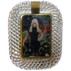Treccia Twisted Murano Glass Picture Frame by Venini