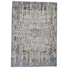Tree Bark Abstract Hand Knotted Soft Wool Oriental Rug
