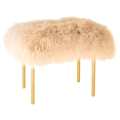 Tree Branches Bench, Fur and Brushed Brass, InsidherLand, Joana Santos Barbosa