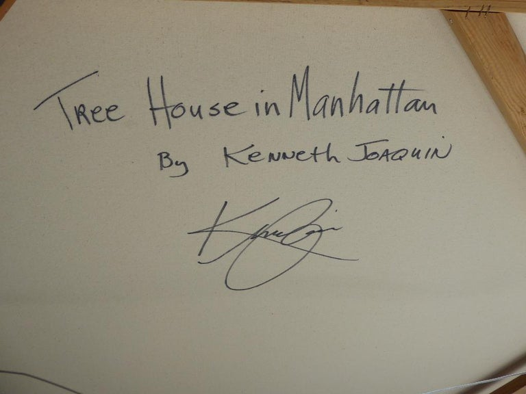 Tree House in Manhattan, an Original Painting by American Artist Kenneth Joaquin For Sale 7