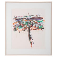 """Tree I"". 1992 Lithograph by Joan Mitchell"