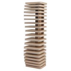 Tree of Knowledge Freestanding Bookcase in Oak Wood Sandblasted