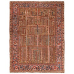 Tree Of Life Design Antique Persian Bakshaish Rug. 9 ft 1 in x 12 ft