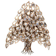Tree of Life Wall Sculpture in Patinated Metal Mexico, 1960s