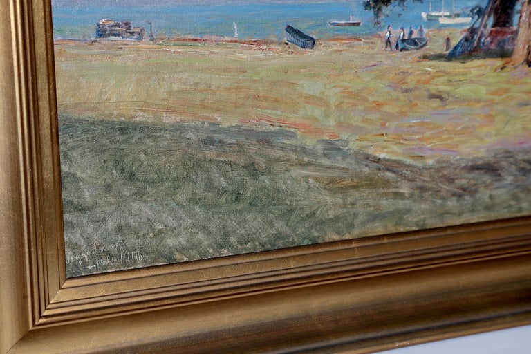 Framed Landscape Painting by Danish Landscape Painter Viggo Langer (1860-1942) For Sale 3