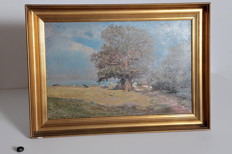 Framed Landscape Painting by Danish Landscape Painter Viggo Langer (1860-1942) For Sale 6