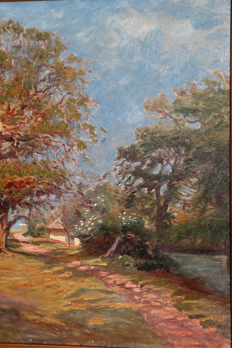 Framed Landscape Painting by Danish Landscape Painter Viggo Langer (1860-1942) For Sale 9
