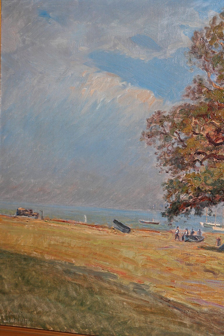 Framed Landscape Painting by Danish Landscape Painter Viggo Langer (1860-1942) For Sale 10