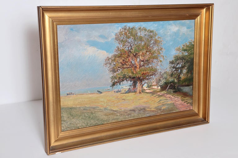 Framed Landscape Painting by Danish Landscape Painter Viggo Langer (1860-1942) For Sale 2