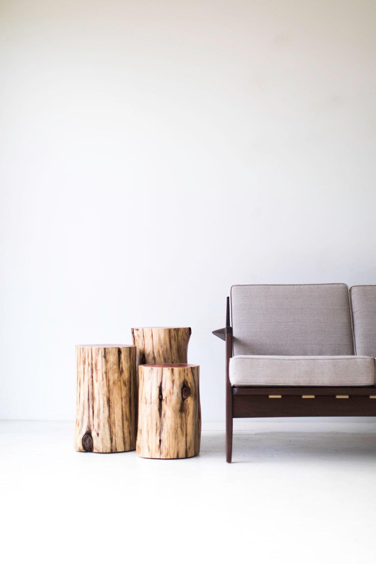 North American Tree Stump Tables, Natural For Sale