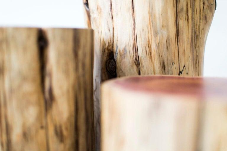 Cedar Tree Stump Tables, Natural For Sale