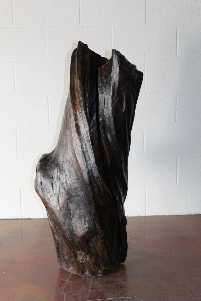 Carved Tree Trunk Sculpture For Sale