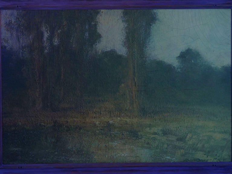 """""""Trees by a Pool"""" Oil Landscape Painting by Ralph Davison Miller For Sale 9"""