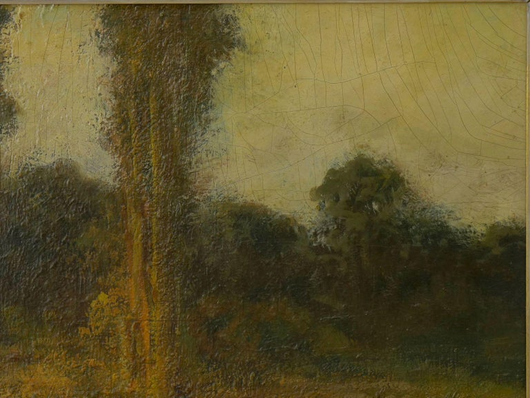 """American """"Trees by a Pool"""" Oil Landscape Painting by Ralph Davison Miller For Sale"""