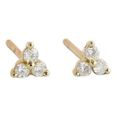 Trefoil Diamond Stud Earrings by Allison Bryan