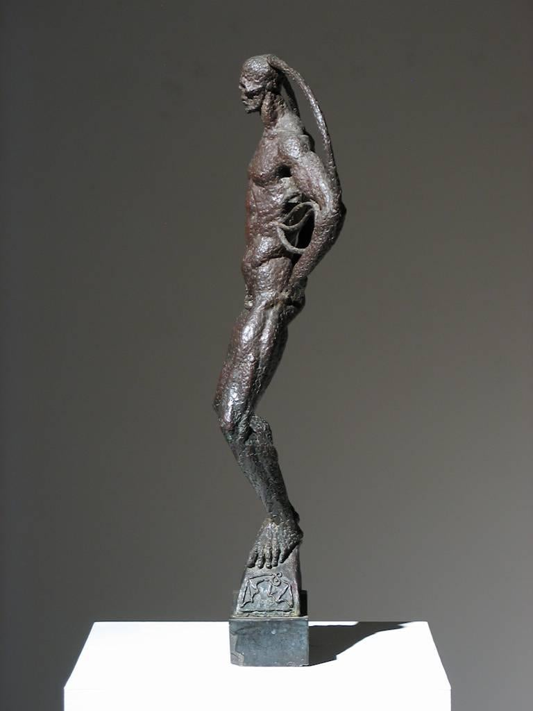 Samhain - Gold Figurative Sculpture by Trego