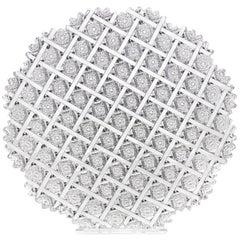 Trellis Brilliant Period Cut Glass Tray by Egginton