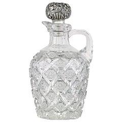 Trellis Brilliant Period Cut Glass Whiskey Jug by Egginton & Co.