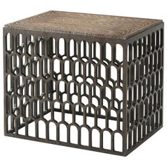 Trellis Cage Side Table