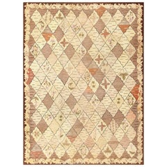Trellis Design Antique American Hooked Rug. Size: 8 ft. 9 in x 11 ft. 10 in