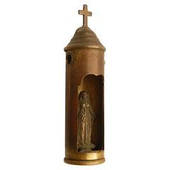 Trench Art Bullet World War One with Secret Hidden Virgin Mary WWI, 1914-1918