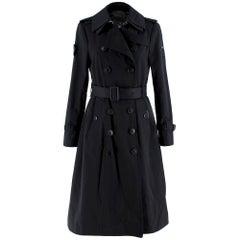 Trench London Black Sloane Trench Coat S