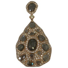 Trendy Collection Rose Gold 9.40 grams and Diamond total weight 7.85 Cts Pendant