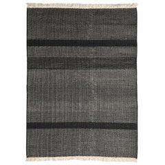 Tres Black Wool and Felt Texture Rug by Nani Marquina, 1stdibs New York