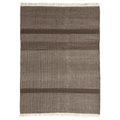 Tres Chocolate Hand-Loomed Wool and Felt Texture Rug by Nani Marquina