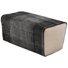 Tres Collection Black Wool and Felt Pouf by Andreu Carulla, 1stdibs New York