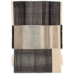 Tres Collection Black Wool and Felt Rug by Nani Marquina, 1stdibs New York