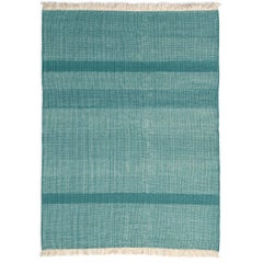 Tres Green Hand-Loomed Wool and Felt Texture Rug by Nani Marquina in Stock